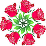 Roses. Illustration art of a roses with isolated background stock illustration