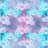 Roses. Abstract wallpaper with floral motifs.  Seamless pattern. Wallpaper. Stock Photo