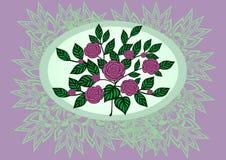 Roses abstraites avec le fond Illustration Stock