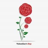 Roses abstraites de Saint-Valentin Images libres de droits