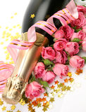 Roses And Champagne Stock Image