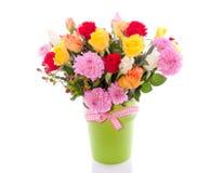Roses And Dahlia Bouquet Stock Photos