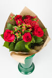 Roses bouquet arrangement Royalty Free Stock Image