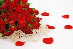 Roses avec amour Photos stock