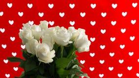 Roses avec le fond de coeurs - concept d'amour Photo libre de droits