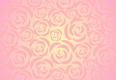 Roses background. Ornament from decorative roses on a light pink background with effect of illumination Royalty Free Stock Images