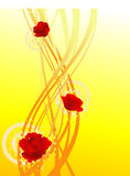 Roses background. Modern flow roses sparkling vector illustration Royalty Free Stock Photo