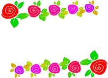 Roses background. An illustration of some roses Stock Photos