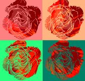 colorful Roses background Royalty Free Stock Photos