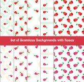 Roses background set Royalty Free Stock Images