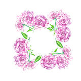 Roses background in watercolor style, greeting card for 8 March holiday. Stock Photo