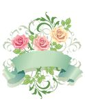 Roses with Banner Royalty Free Stock Image