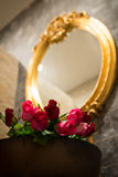 Roses in basin., Valentines day gift. Royalty Free Stock Image