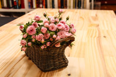 Roses in a basket Royalty Free Stock Image