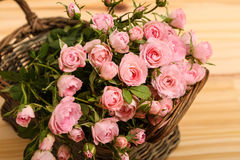 Roses in a basket Stock Photo