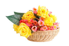 Roses in basket Stock Photography