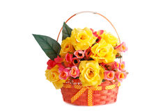 Roses in basket Stock Photos