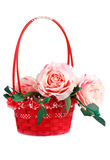 Roses in basket Royalty Free Stock Photos