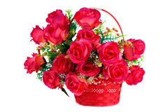 Roses in basket Royalty Free Stock Photography