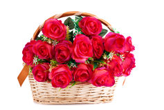 Roses in basket Stock Images