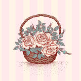 Roses in basket Stock Image