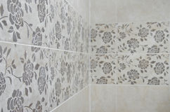 Roses Bathroom tile wall Stock Images