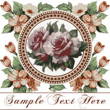 Roses. Beautiful frame with a flower ornament. Royalty Free Stock Image