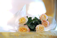 Roses on Bed Stock Photography