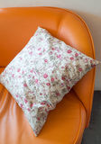 Roses blanches d'oreiller peintes Photographie stock