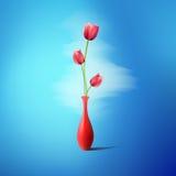 Roses on blue background Stock Image