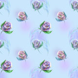 Roses on blue Royalty Free Stock Photos