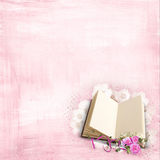 Roses on a book Royalty Free Stock Image