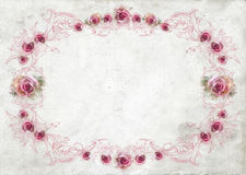 Roses vintage border background. Roses Floral Illustration composition watercolor style for background, border or wedding invitation Royalty Free Stock Image