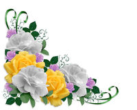 Roses Border Easter Colors Stock Photo