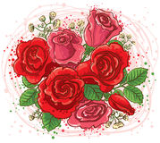 Roses bouquet Stock Photo