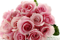 Roses bouquet. Pink roses bouquet isolated  on white Royalty Free Stock Image
