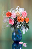 Roses bouquet royalty free stock photo