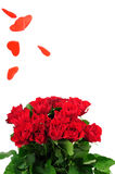 Roses bouquet and heart rain Royalty Free Stock Photo