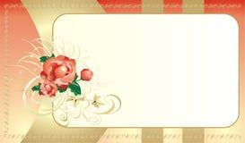 Roses. Bouquet. La carte des vacances Photos stock