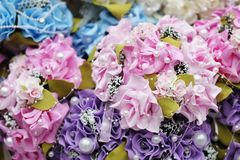 Roses bouquets background Stock Images