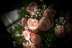 Roses and bouquets for the bride. A beautiful bouquet of roses brightens your best day Royalty Free Stock Photo