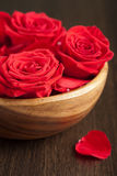 Roses in bowl Royalty Free Stock Photography