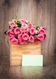 Roses in the box Royalty Free Stock Photo