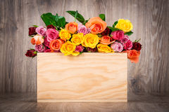 Roses in the box Stock Photo