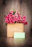 Roses in the box Royalty Free Stock Photography