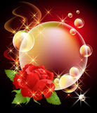 Roses and bubbles Stock Photo