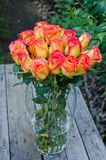 Roses Bunch in Vase Royalty Free Stock Photography