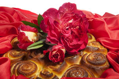 Roses cake for mother day Royalty Free Stock Photos
