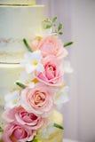 Roses on cake Stock Photo