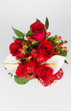 Roses bouquet and calla arrangement Stock Images